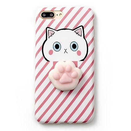 outlet store da65f 5d11e iPhone 7 Plus Case, Tricess 3D Cute Soft Silicone Squishy Cat Phone Case  for iPhone 7 Plus
