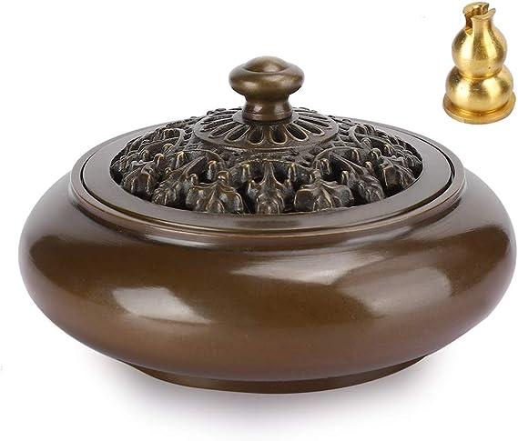 家庭用お香バーナーセラミック、お香バーナー、防錆工芸品の装飾3インチの伝統的な工芸品の家具