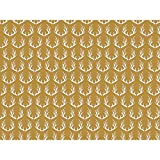 Metallic Golden Deer 30'' x 150' Gift Wrap Roll