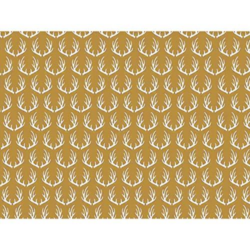 Metallic Golden Deer 30'' x 150' Gift Wrap Roll