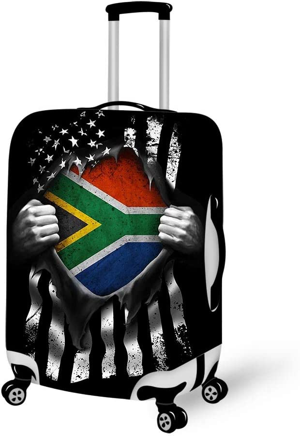 Luggage Cover Pull Apart Shirts South African American Flag Protective Travel Trunk Case Elastic Luggage Suitcase Protector Cover