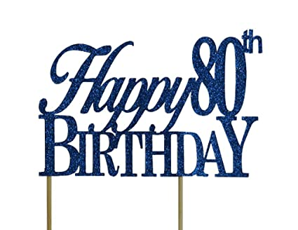 amazon com all about details blue happy 80th birthday cake topper