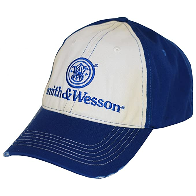 c08afc30d Smith & Wesson Men's Two Tone Distressed Logo Cap