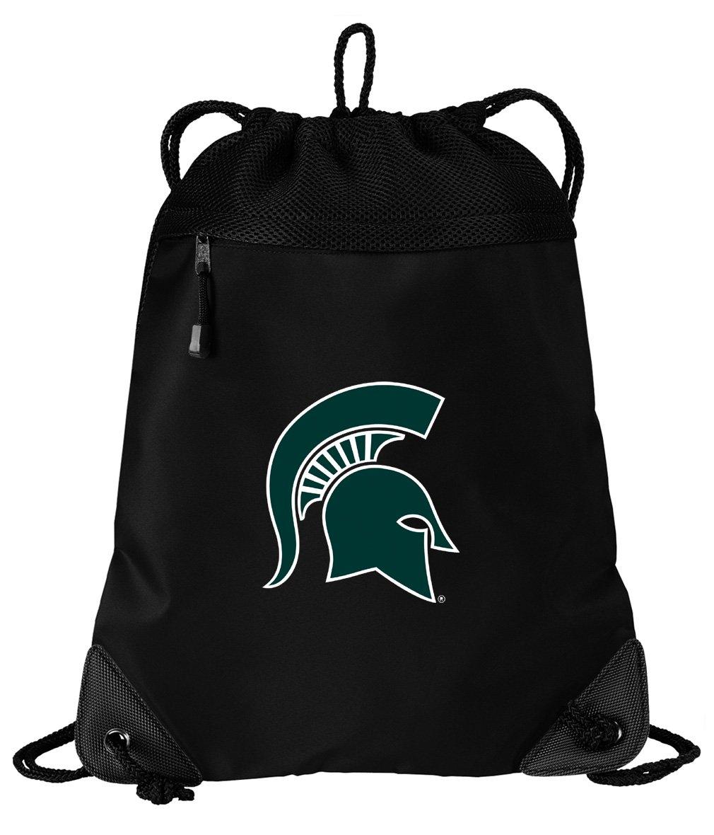 Broad Bay Michigan State Drawstring Bag Michigan State University Cinch Pack Backpack UNIQUE MESH & MICROFIBER