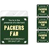 Tree-Free Greetings NC38118 Packers Football Fan 4-Pack Artful Coaster Set
