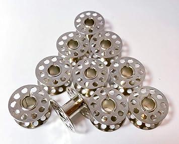 10 Spulen für Privileg Nähmaschinen aus Metall