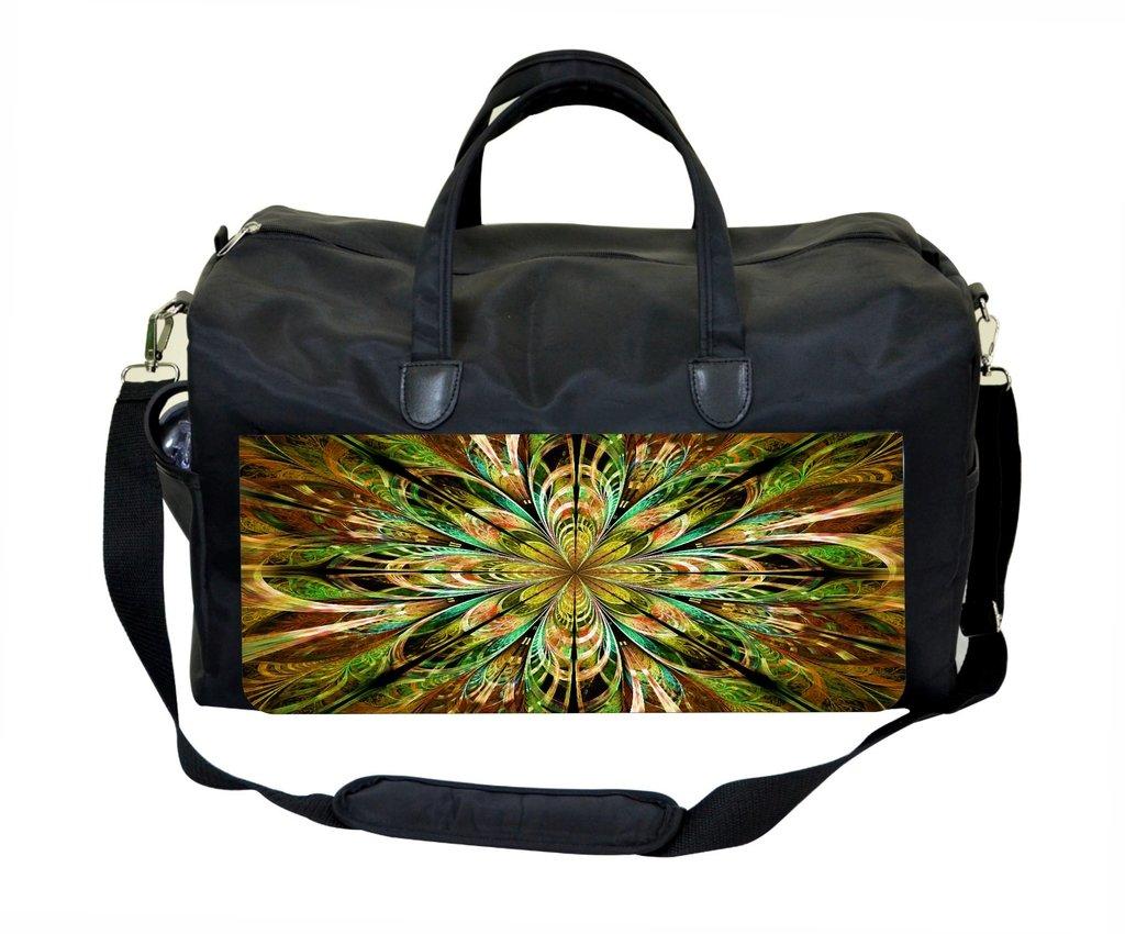 Jacks Outlet Abstract Fractal Print in Green Gym Bag