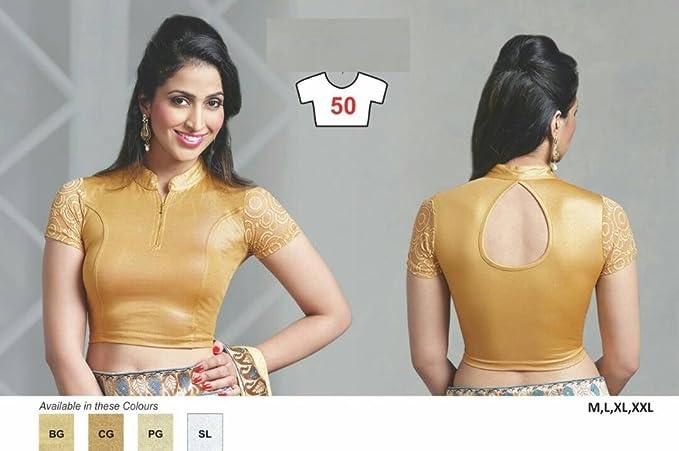 Top Blusa Choli Blusa elástica a juego La mejor diseñadora Choli Vestido de novia Indio Vestido de novia Anarkali Salwar Suit Party Dupatta Wear Lycra ...