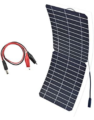 XINPUGUANG Panel Solar Flexible 10w 12v Semi Flexible Mono Cristalino Silicona PV Módulo con Cable Clip