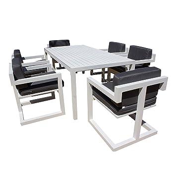 Hevea Set de Comedor con 6 sillones y Mesa Alhama-200/6 ...
