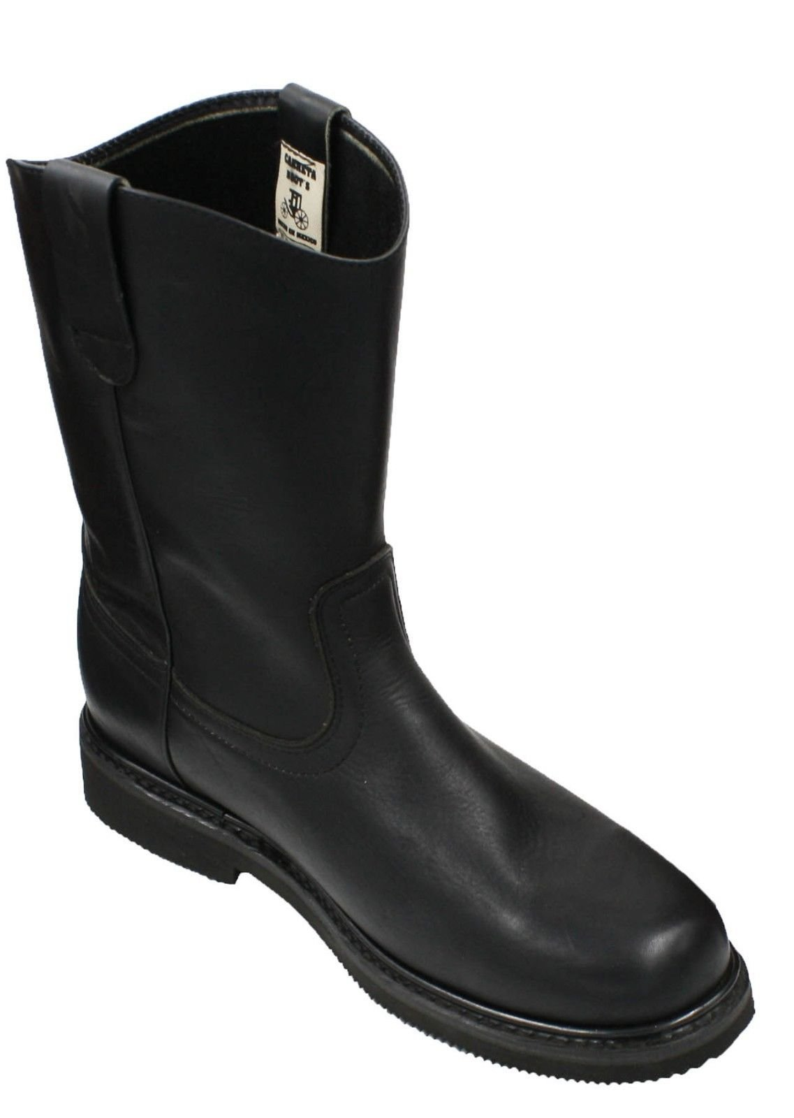 Dona Michi Men's Work Boots Pull On Leather Oil Water Slip Resistant Black 8.5 by Dona Michi (Image #3)
