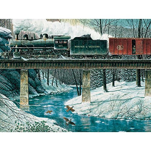 River Crossing Puzzle Game - Heritage Puzzle River Crossing - 550 Piece Jigsaw Puzzle
