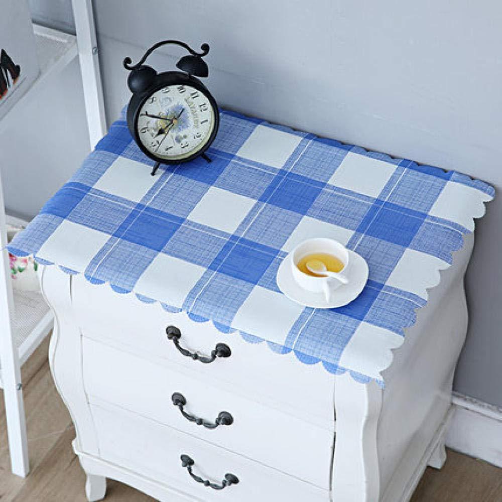 WJJYTX tischdecke Plastik, Nachttischdecke Abwischbare Vinyl-Tischdecke Stilvolles Muster Wasserdicht Kleines Quadrat Vintage @ 50 * 50