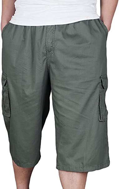 Heheja Homme Cargo Shorts Militaire avec