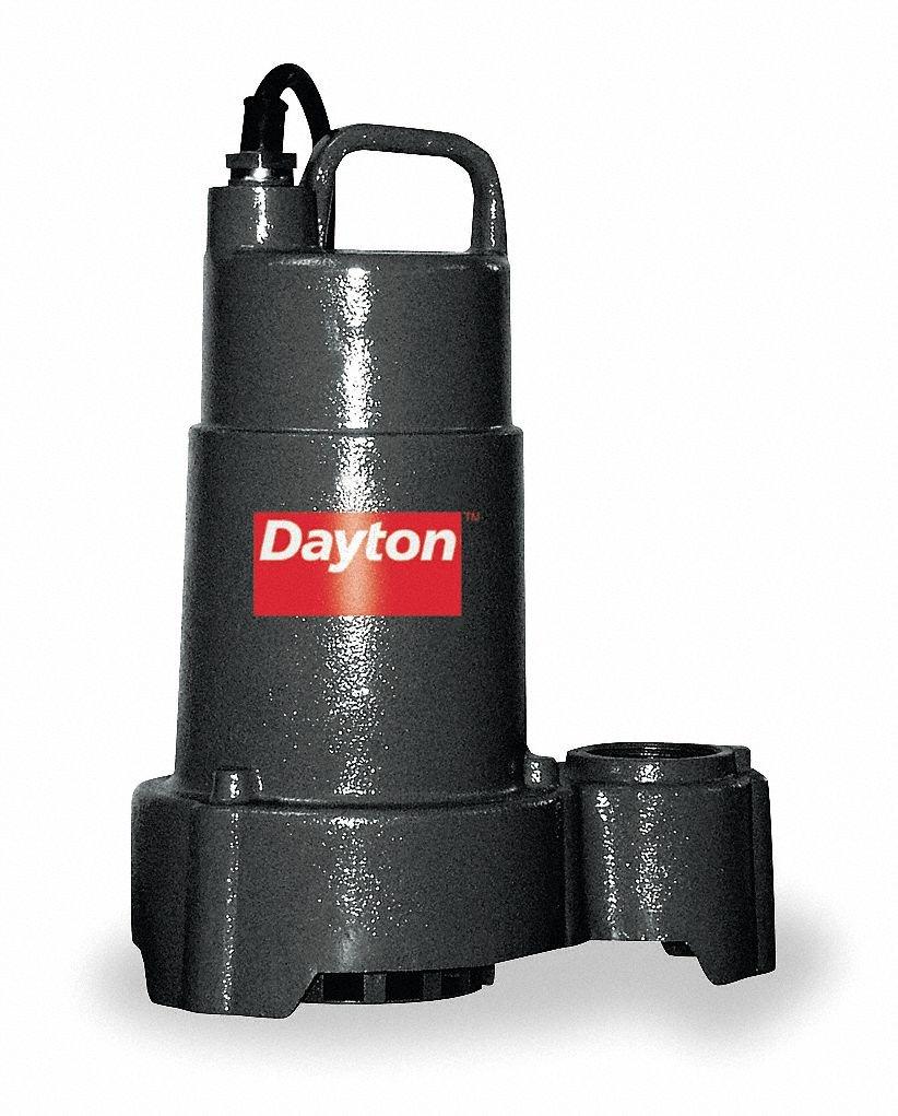 1//3 HP Dayton 3BB73 Pump Sump