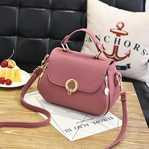 Bag New Shoulder 19x17x9cm Blue Fashion Handbag Ladies Casual Pink Everyday Gaoqiangfeng qt4wTUOZU
