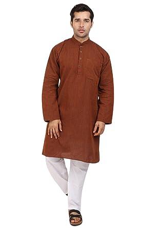b250bf8cbaa5 Amazon.com  Cellora Men s Fashion Kurta Pyjama Khadi Cotton Wear Indian  Wedding Kurta Pajama S-5XL  Clothing