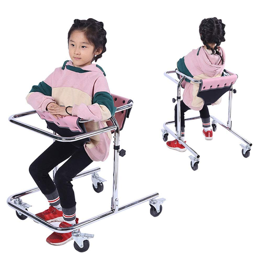 JLVNA Vertical Walker, Lightweight and Compact Rollable Walker with Seated Hemiplegia Training, Children's Walker by JLVNA