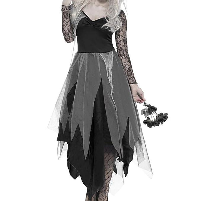 Enjoygoeu Halloween Decoración Disfraz de Horror Zombie ...