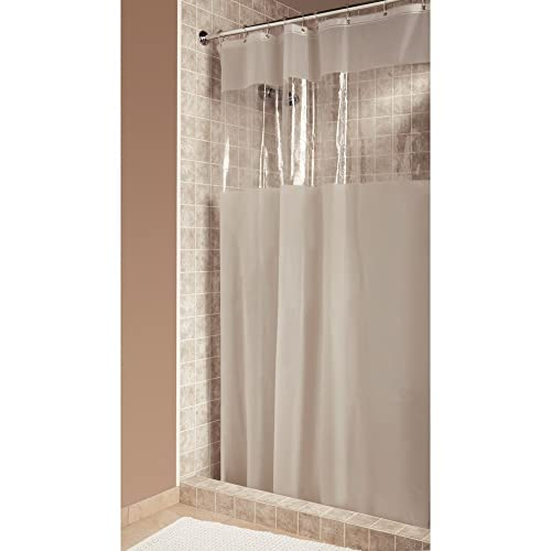 InterDesign Hitchcock Shower Curtain Stall 54 X 78 Clear