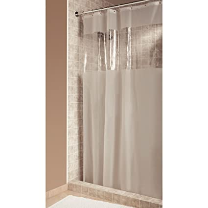 Amazon InterDesign Hitchcock Shower Curtain Long 72 X 84