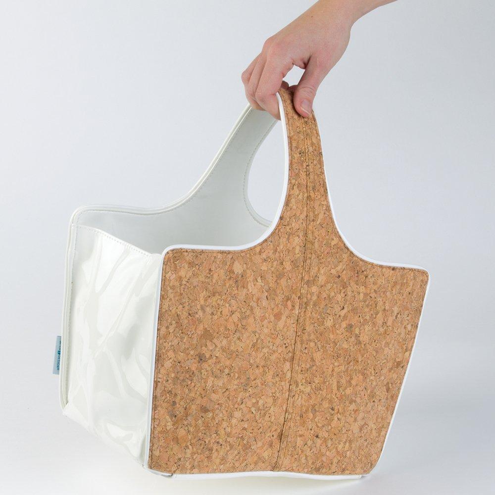 Perfecta cesta organizadora para ba/ño o para las cosas de su beb/é mDesign Cesta de almacenaje Mantenga el orden de su hogar con esta bonita cesta de corcho con asas