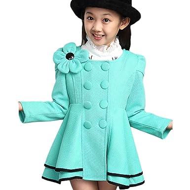 557136e0b Amazon.com  LSERVER Girl s Elegant Faux Fur Woolen Collar Fashion ...