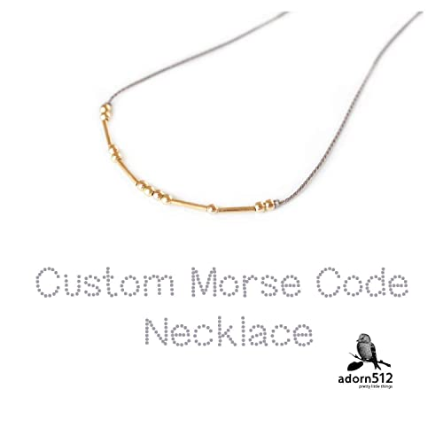 Joycuff Morse Code Necklaces for Women Funny Inspirational Jewelry Gifts for Her Mom Daughter Sister Best Friend Beaded Wrap Necklace