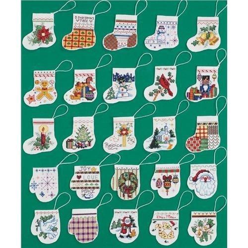 Janlynn Lotsa Stockings and Mittens Ornaments Counted Cross Stitch Kit