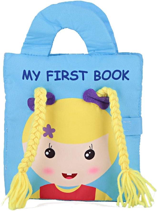 libros de co/águlo de arrugas sensoriales de educaci/ón temprana Libro de aprendizaje Regalo para ni/ña ni/ño Libro de tela suave para beb/és