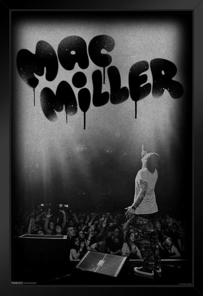 Pyramid America Mac Miller Live in Concert Music Swimming Poster from Vinyl CD Cover Art Kids Wall Art Framed Poster 20x14 inch