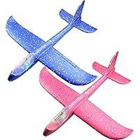 Tomaibaby Schuim Vliegtuig Hand Gooien Vliegtuig Vliegende Zweefvliegtuig Vliegtuigen Model Speelgoed Voor Kinderen Kinderen Buiten Spelen 2 Stuks (Willekeurige Kleur)