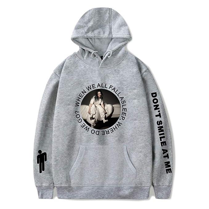 WTZFHF Hoodie Sudadera Digital impresión Deportiva con Capucha suéter, suéter de Deportes de Manga Larga Cosplay Billie Eilish Encapuchado, ...