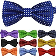 Boy's Kids Children Solid Color Satin Pre-tied Bow Ties Polka dots Bow
