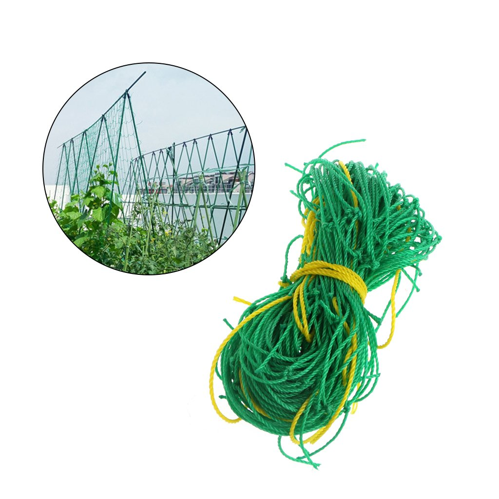 Shoresu Gardening Vegetable Nylon Plant Support & Trellis Netting Support Climbing Bean Nets Grow Fence Green 0.9 x 1.8 m/35.43'' x 70.87