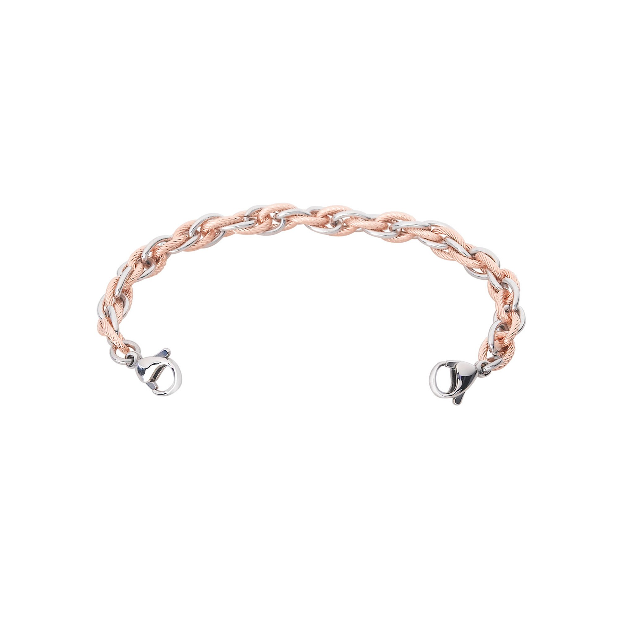 Divoti Inter-Mesh Rose Gold & Silver Stainless Steel Interchangeable Medical Alert Replacement Bracelet for Women -7.5''