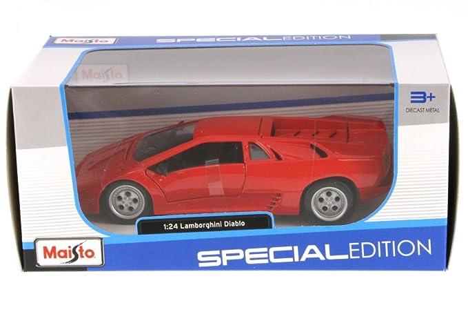 Amazon Com Lamborghini Diablo Hard Top Red Maisto 31903r 1 24