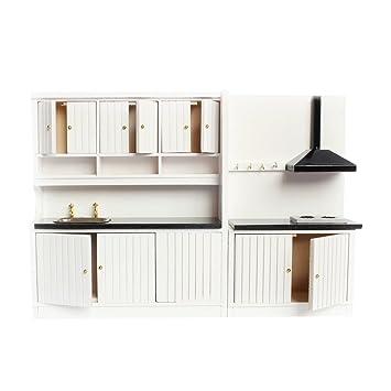 Amazon.es: 1/12 Un Set de Muebles de Cocina en Miniatura de Casa de ...