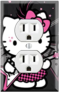 Duplex Wall Outlet Plate Decor Wallplate - Hello Kitty I Love Punk
