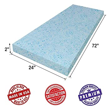 "Tapicería Visco Cool Gel memoria espuma sheet- 2 ""H x 61 cm W"