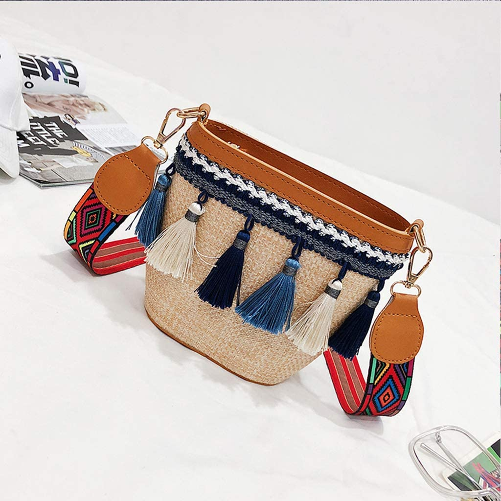 lipiny Rattan Bag for women Handmade Woven Straw Crossbody Handbag Tote Shoulder Bag Purse Summer Beach