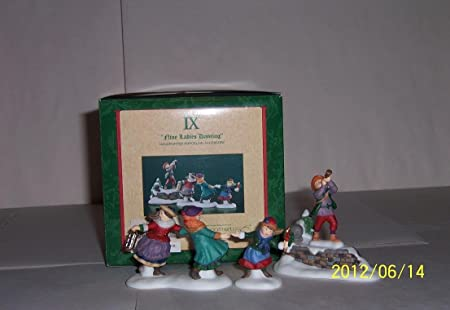Department 56 Nine Ladies Dancing Porcelain Figurines