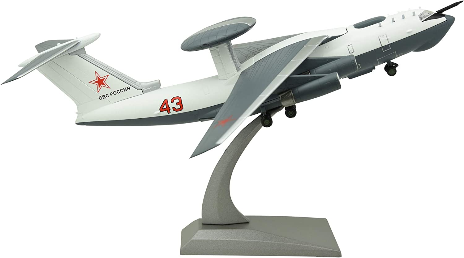 TANG DYNASTY 1:200 Beriev A-50M AWACS Early Warning Airplane Metal Plane Model,Soviet Union,Military Airplane Model,Diecast/Plane,for Collecting and Gift