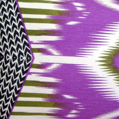 Pillow D COR Electric Ikat Purple 15×27 Throw Pillow