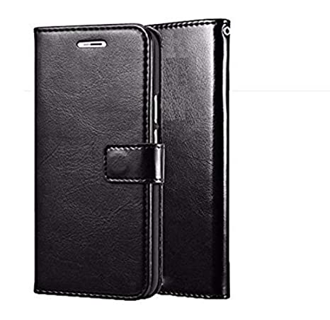 finest selection eb459 0169a Js Cool® Samsung Galaxy E5 Flip Cover, Stylish Vintage Pu Leather Wallet  Card Holder Stand Flip Case Cover for Samsung Galaxy E5 - Black