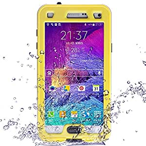 Link Dream Waterproof shield Phone Case for Samsung Note 4 N9100 Yellow