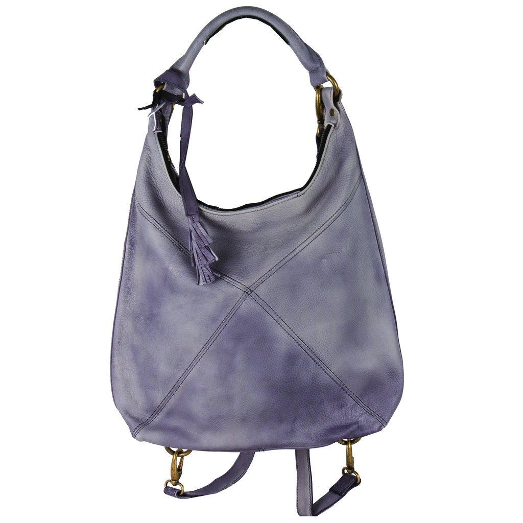 Latico Leathers Marilyn Backpack, Washed Black, One Size, 100% Leather, Designer Handbag, Made In India