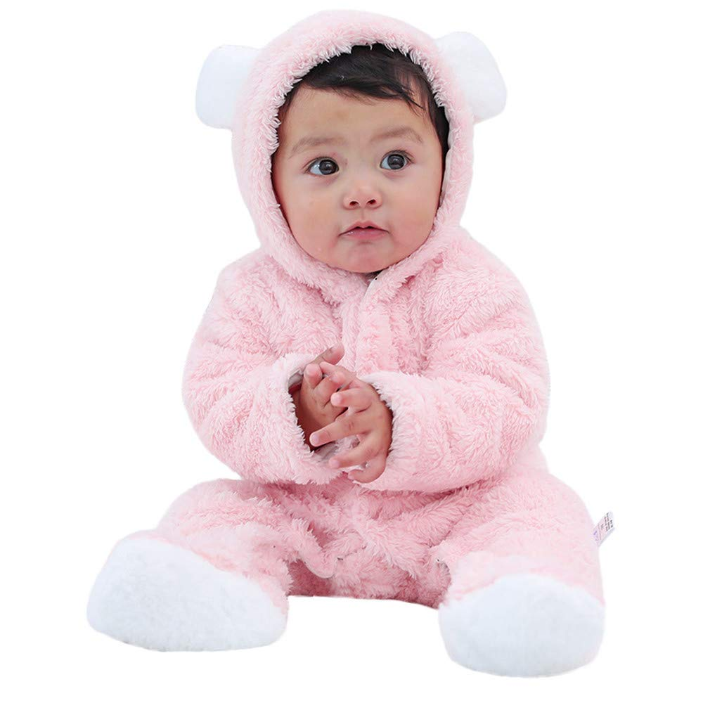 c19f25b72 Amazon.com : Infant Baby Girls&Boys Long Sleeve Fluffy Hooded Jumpsuit  Romper Outfits Clothes Long Sleeves Jumpsuit Romper Children Climb Suit For  Children ...