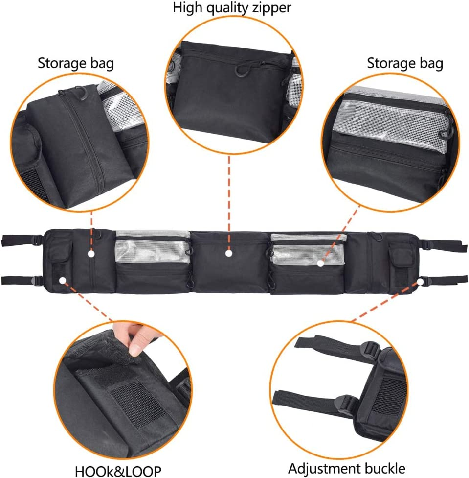 Multi-pocket UTV Large Roll Cage Organizer Ammo Storage Cargo Bag For UTVs New