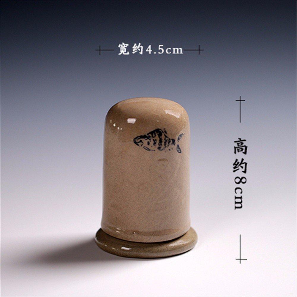 LOSTRYY Retrò Ceramica Creativa stuzzicadenti barile Handleiding stuzzicadenti, b